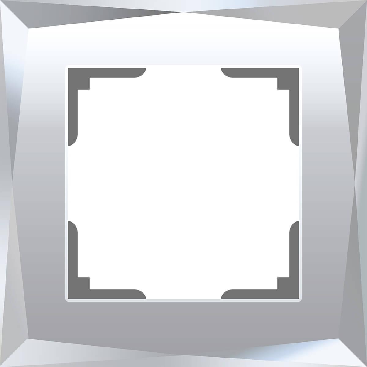 Рамка Werkel Diamant на 1 пост зеркальный WL08-Frame-01 4690389143816