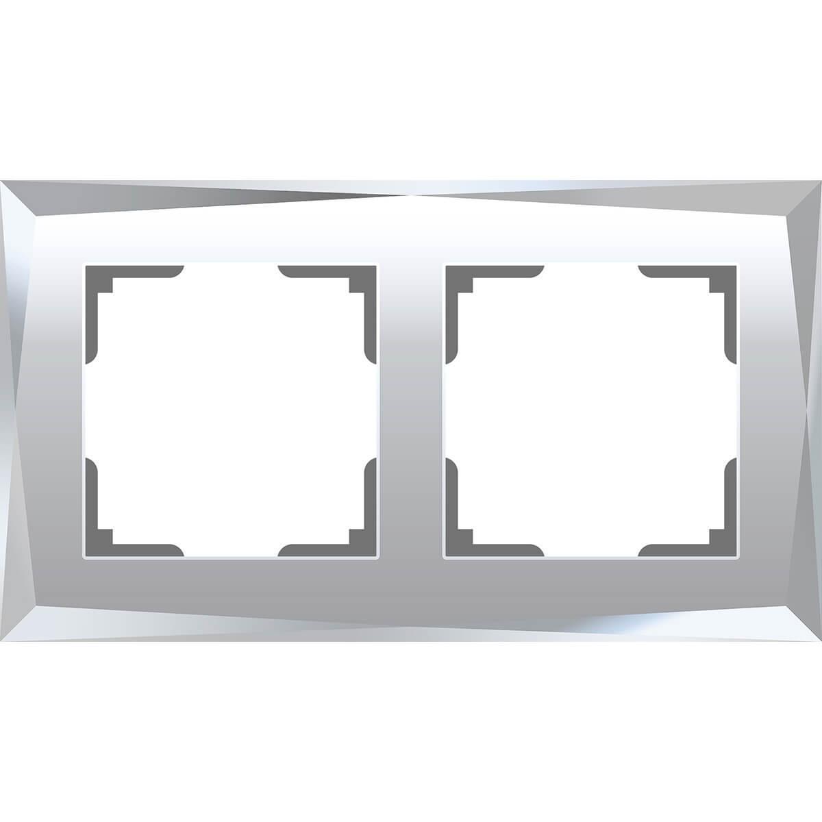 Рамка Werkel Diamant на 2 поста зеркальный WL08-Frame-02 4690389143823