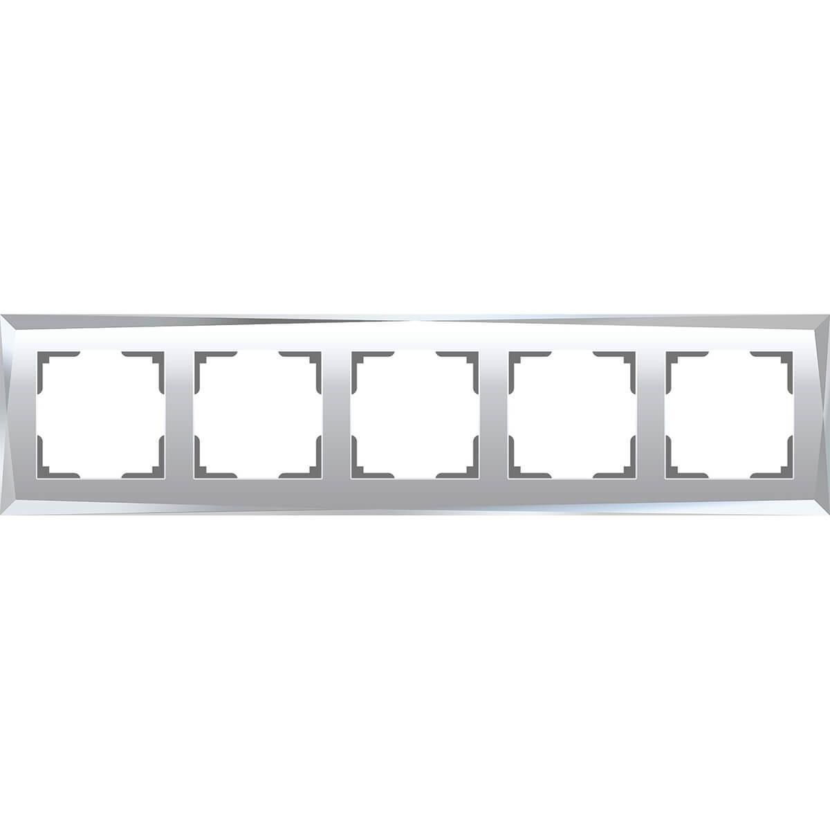 Рамка Werkel Diamant на 5 постов зеркальный WL08-Frame-05 4690389143854