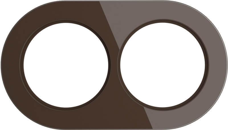 Рамка Werkel Favorit Runda на 2 поста коричневый WL21-Frame-01 4690389141966