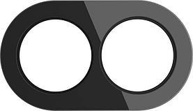 Рамка Werkel Favorit Runda на 2 поста черный WL21-Frame-01 4690389141973