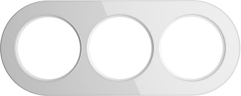 Рамка Werkel Favorit Runda на 3 поста белый WL21-Frame-01 4690389141980