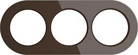 Рамка Werkel Favorit Runda на 3 поста коричневый WL21-Frame-01 4690389141997