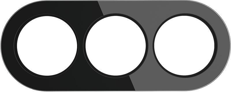 Рамка Werkel Favorit Runda на 3 поста черный WL21-Frame-01 4690389142000