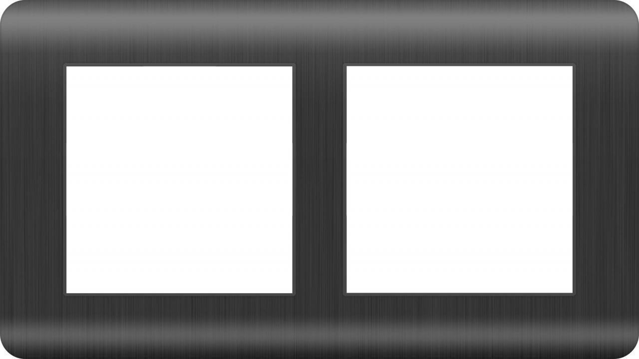 Рамка Werkel Stream на 2 поста графит WL12-Frame-02 4690389145438