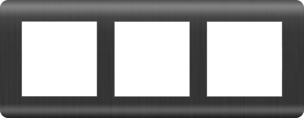 Рамка Werkel Stream на 3 поста графит WL12-Frame-03 4690389145445
