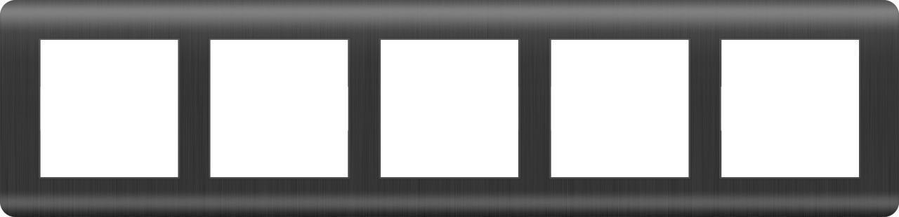 Рамка Werkel Stream на 5 постов графит WL12-Frame-05 4690389145469