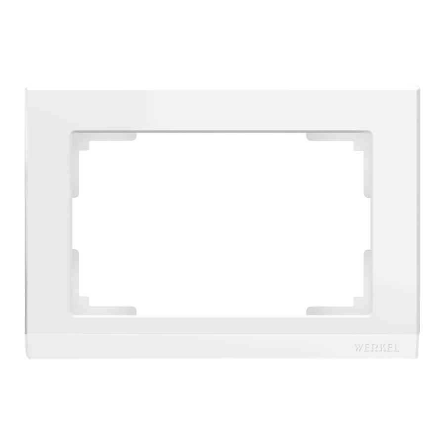 Рамка для двойной розетки Werkel Stark белый WL04-Frame-01-DBL-white 4690389146183