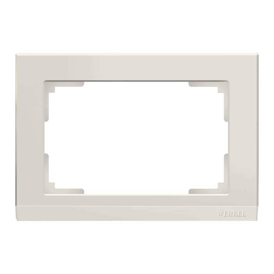 Рамка для двойной розетки Werkel Stark слоновая кость WL04-Frame-01-DBL-ivory 4690389146176