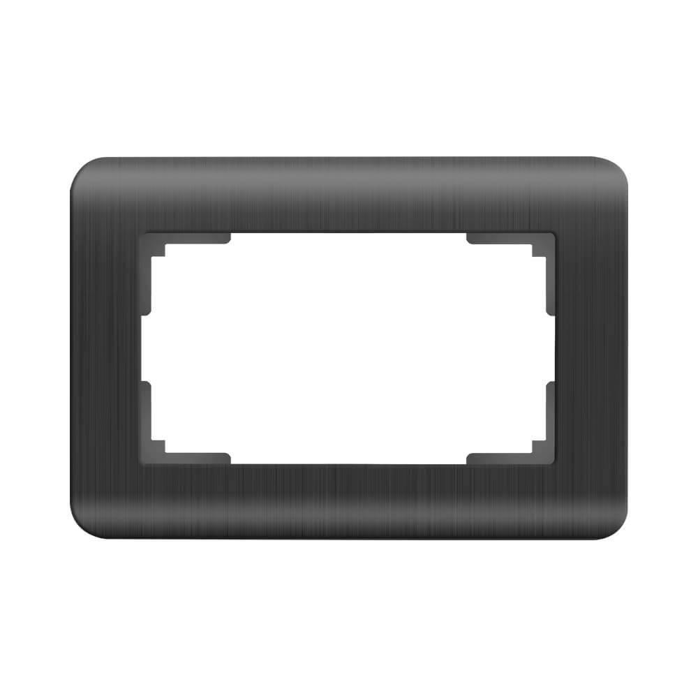 Рамка для двойной розетки Werkel Stream графит WL12-Frame-01-DBL 4690389147050
