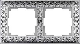 Рамка Werkel Antik на 2 поста матовый хром WL07-Frame-02 4690389145674