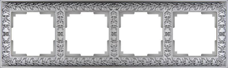 Рамка Werkel Antik на 4 поста матовый хром WL07-Frame-04 4690389145698