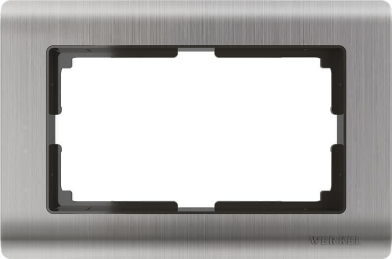 Рамка Werkel Metallic для двойной розетки глянцевый никель WL02-Frame-01-DBL 4690389147074