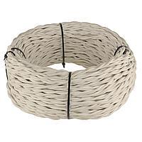 Ретро кабель Werkel витой двухжильный 1,5 мм песочный 4690389130168