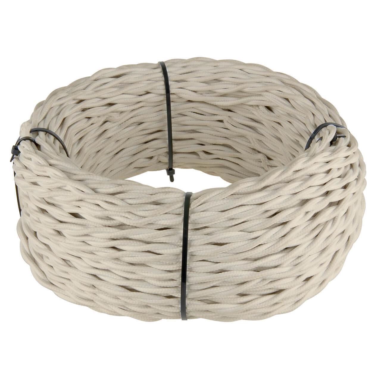 Ретро кабель Werkel витой трехжильный 1,5 мм песочный 4690389130182