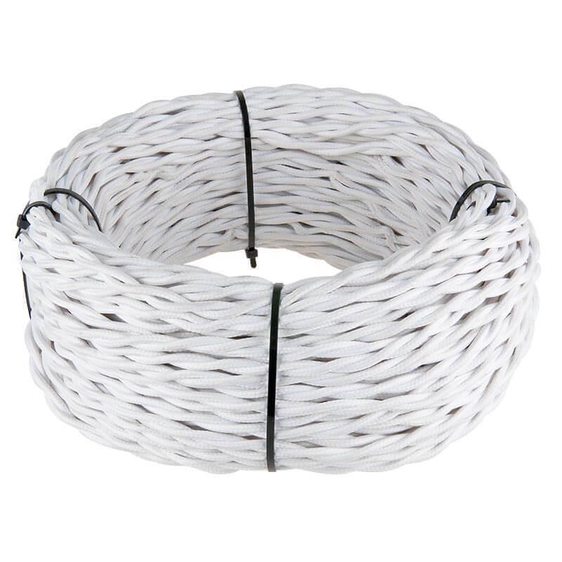 Ретро кабель Werkel витой трехжильный 1,5 мм белый 4690389116780