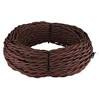 Ретро кабель Werkel витой трехжильный 1,5 мм коричневый 4690389116797
