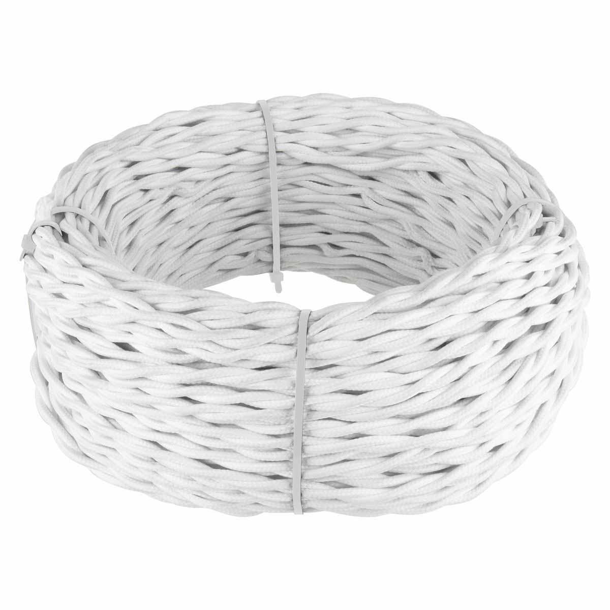 Ретро кабель Werkel витой двухжильный 1,5 мм белый 4690389136948