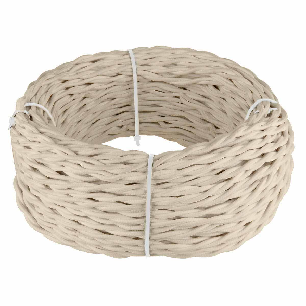 Ретро кабель Werkel витой двухжильный 1,5 мм песочный 4690389136955