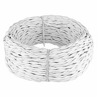 Ретро кабель Werkel витой двухжильный 2,5 мм белый 4690389136986