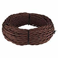 Ретро кабель Werkel витой двухжильный 2,5 мм коричневый 4690389137006