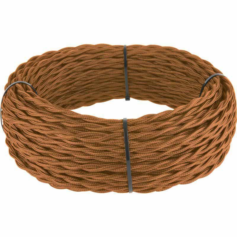 Ретро кабель Werkel витой двухжильный 2,5 мм медный 4690389153051