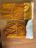 Перчатки спилковые (утепленные)