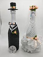 Свадебные бутылки ,декор