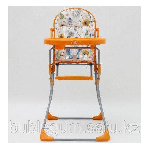 """Стульчик для кормления Selby 152 """"Совы"""" оранжевый"""