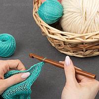 Крючок для вязания, бамбуковый, d = 9 мм, 15 см