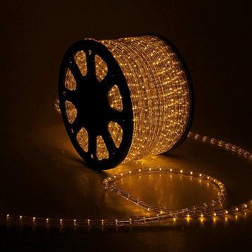 LED шнур 13 мм, круглый, 100 м, чейзинг, 3W-LED/м-36-220V. в компл. набор д/подкл. ЖЕЛТЫЙ