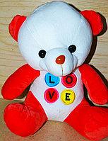 Мишка 35см надпись LOVE Разноцветная