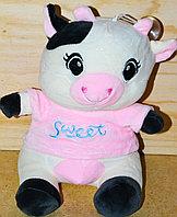 Корова 23см в кофте голуб и розовой надпись SWEET