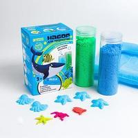 Песок для лепки флаффи 'Морской мир', 2 цвета 100 г