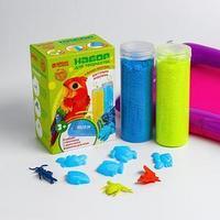 Песок для лепки флаффи 'Животный мир', 2 цвета 100 г