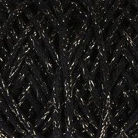 Шнур для вязания 3мм 97 хлопок, 3 люрекс 50м/130гр (чёрный/золот.люрекс)