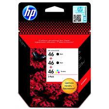 HP F6T40AE Ink Cartridge 3-Pack №46 for DeskJet
