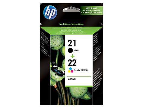HP SD367AE Комбинированный пакет картриджей, HP 21+22