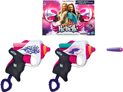 """Hasbro Nerf Rebelle Пистолеты Мини-Бластеры для девочек """"Сладкая парочка"""""""