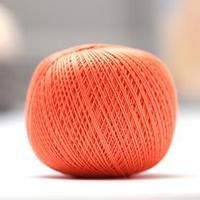 Нитки вязальные 'Роза' 320м/50гр  100 мерсеризованный хлопок цвет 0802 (комплект из 6 шт.)