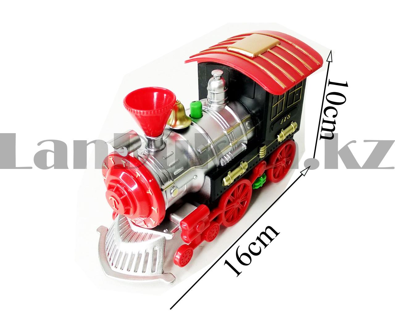 Игрушечный набор железная дорога и поезд со свето-звуковым сопровождением на 17 деталей Locomotive RailWay - фото 4