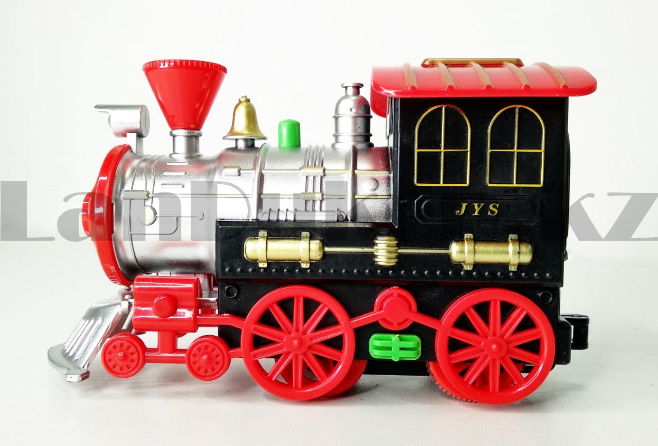 Игрушечный набор железная дорога и поезд со свето-звуковым сопровождением на 17 деталей Locomotive RailWay - фото 6