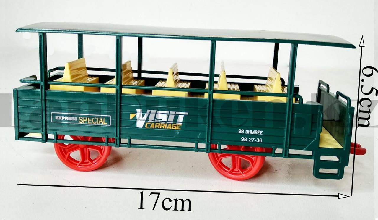 Игрушечный набор железная дорога и поезд со свето-звуковым сопровождением на 17 деталей Locomotive RailWay - фото 7