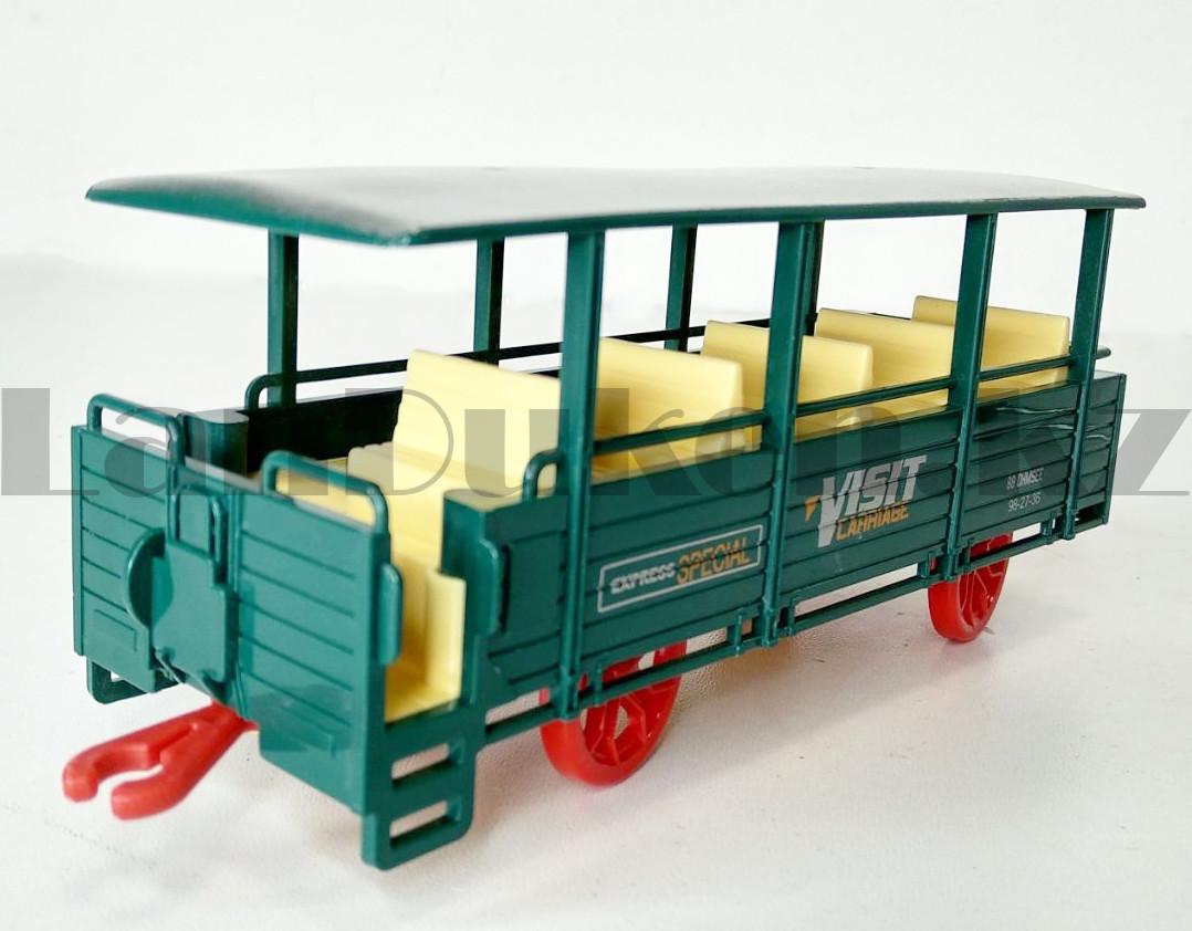 Игрушечный набор железная дорога и поезд со свето-звуковым сопровождением на 17 деталей Locomotive RailWay - фото 8