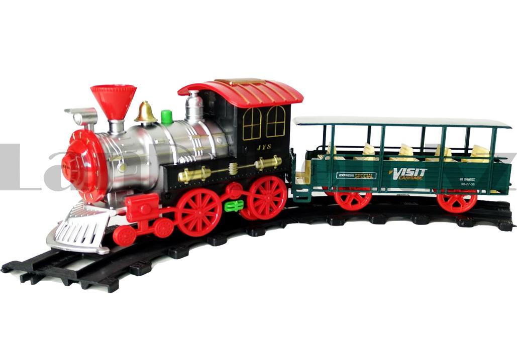 Игрушечный набор железная дорога и поезд со свето-звуковым сопровождением на 17 деталей Locomotive RailWay - фото 9