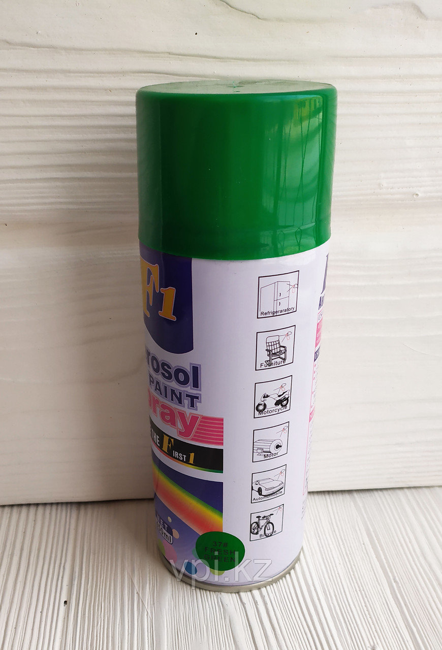 """Аэрозольная краска, зеленая #37 - """"Fresh Green"""", 450мл. F1"""
