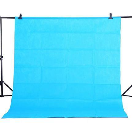 Фон 4 м × 2,3 м Студийный тканевый цвет голубой/ бирюзовый, фото 2