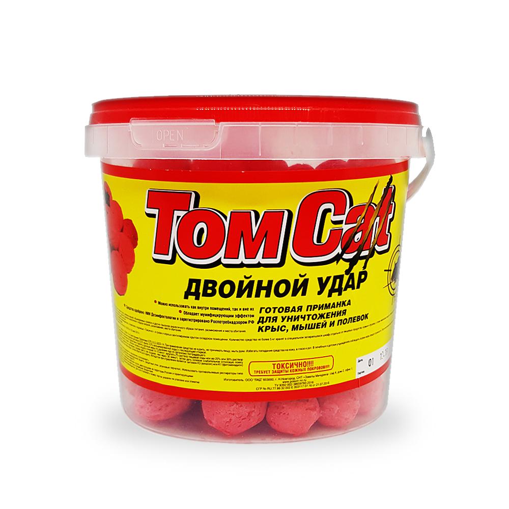Эффективное средство от мышей,крыс Tom Cat двойной удар 6 кг