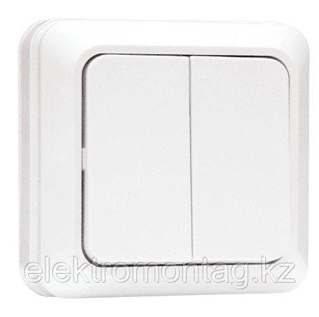 Выключатель Рим Выключатель 2-клавишный 10А белый EKF