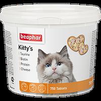 Beaphar Kitty s Mix,витамины с таурином,протеином,биотином и сыром для кошек,180 таблеток